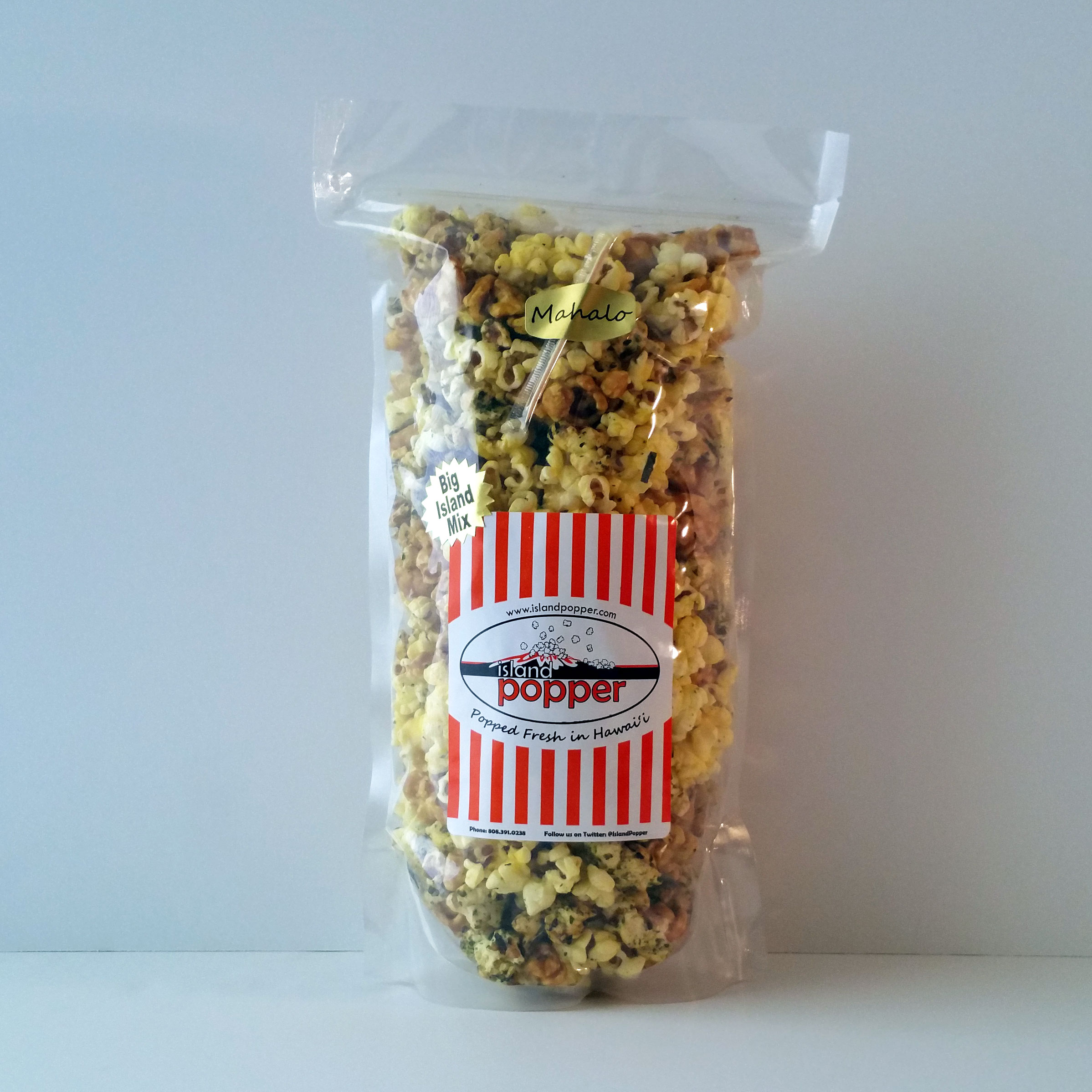 Big Island Mix Combines our rich Caramel, Original Furikake and Organic Butter