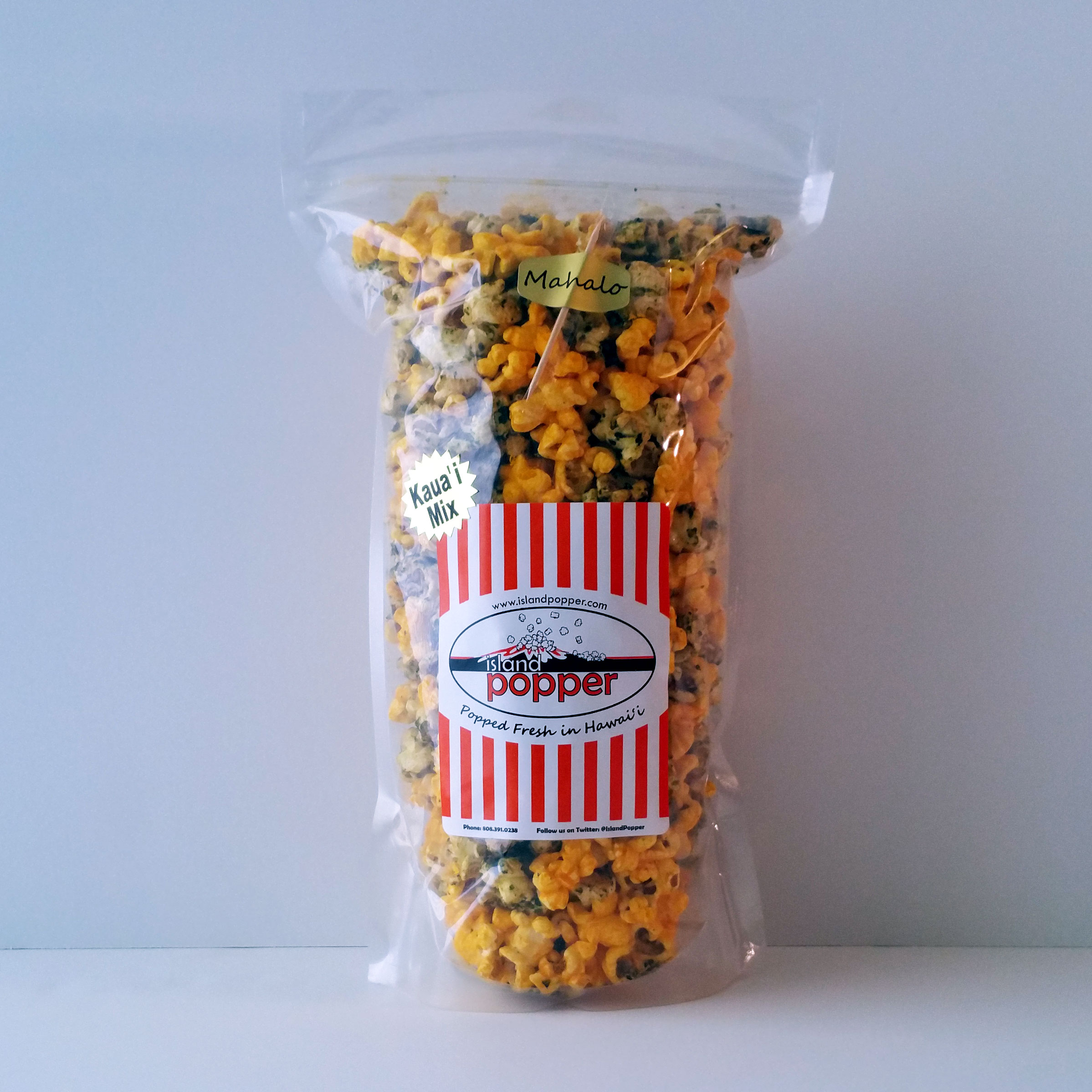 Kauai MixSweet and crisp Original Furikake combined with our tangy Real Cheddar Cheese popcorn