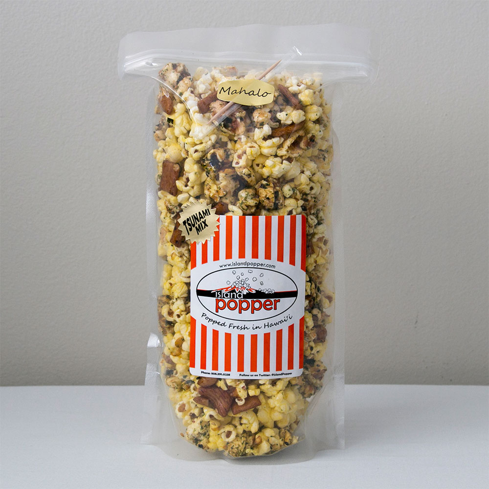 Tsunami Mix Sweet and crisp Original Furikake, Organic Butter and Mochi Crunch